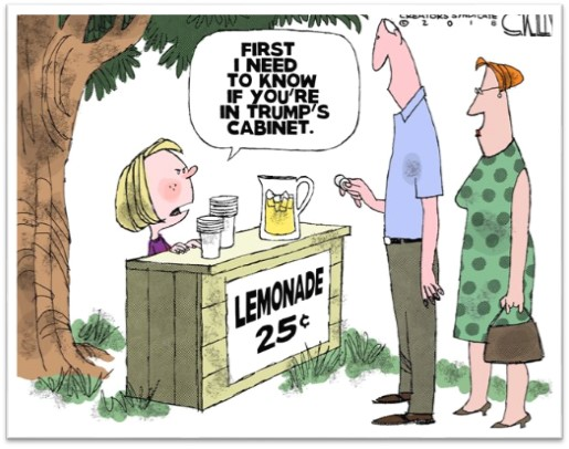 No Lemonade for Trump Cabinet members