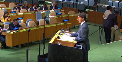 Trudeau Speaks to Empty Room at United Nations