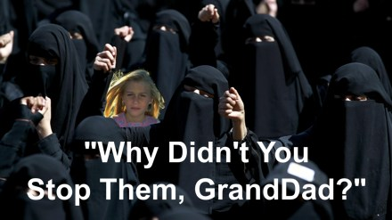 Blonde Girl Overwhelmed by Burka Women - Why Didn't You Stop Them GrandDad