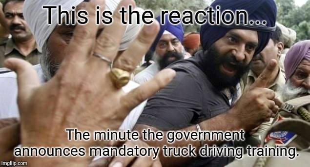 Sikhs upset at mandatory truck driver training