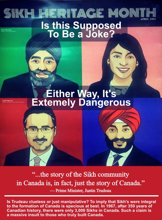 Sikh heritage month is a disgusting bigoted political submission