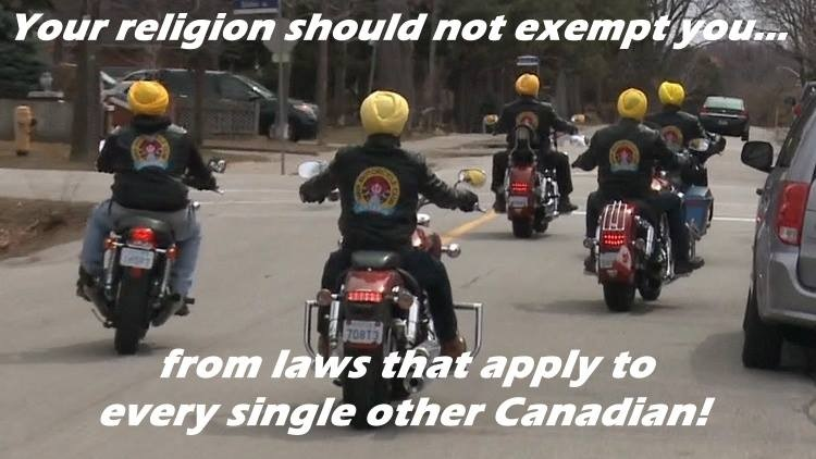 Your religion should not exempt Sikhs on motorcycles