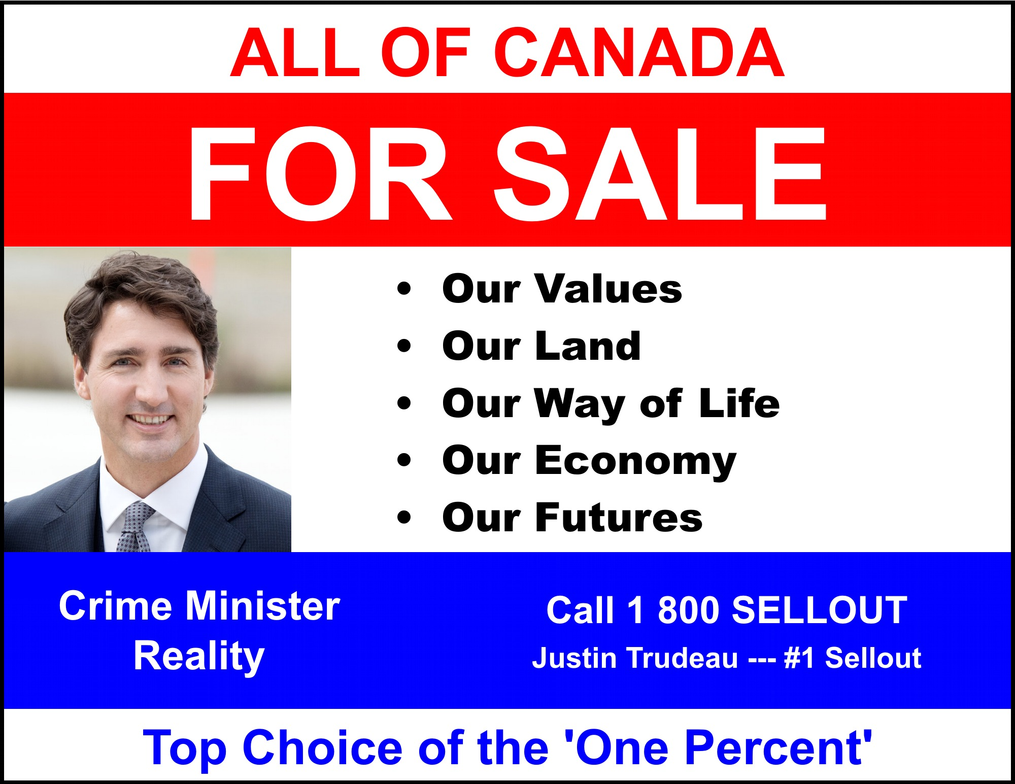 Trudeau is selling [out] Canada