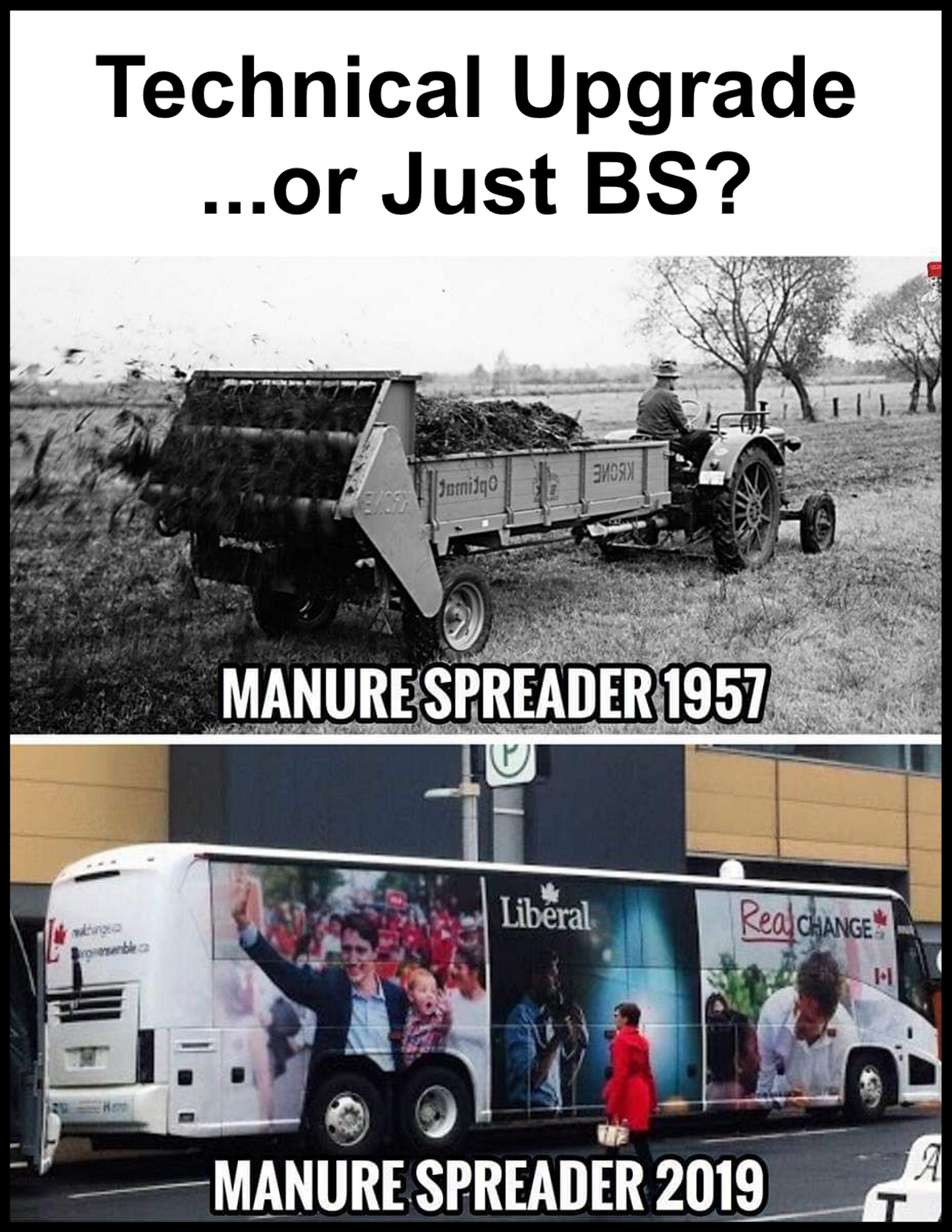 The Liberal Party spreads manure and BS