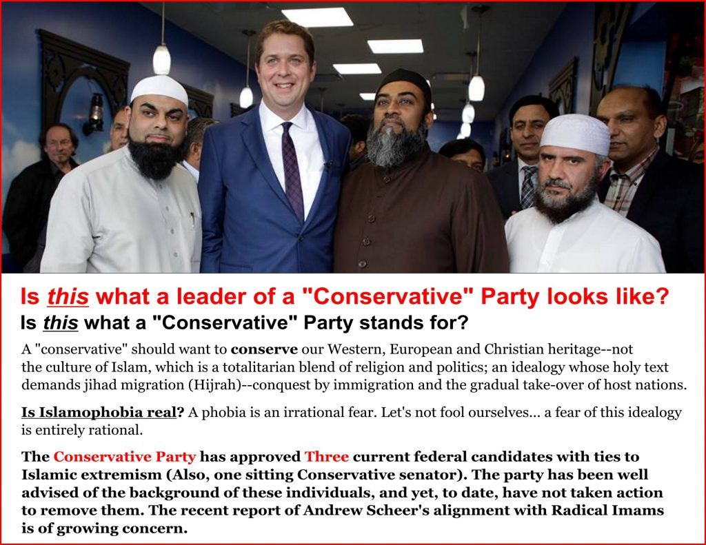Is Andrew Scheer selling out to radical Islam?