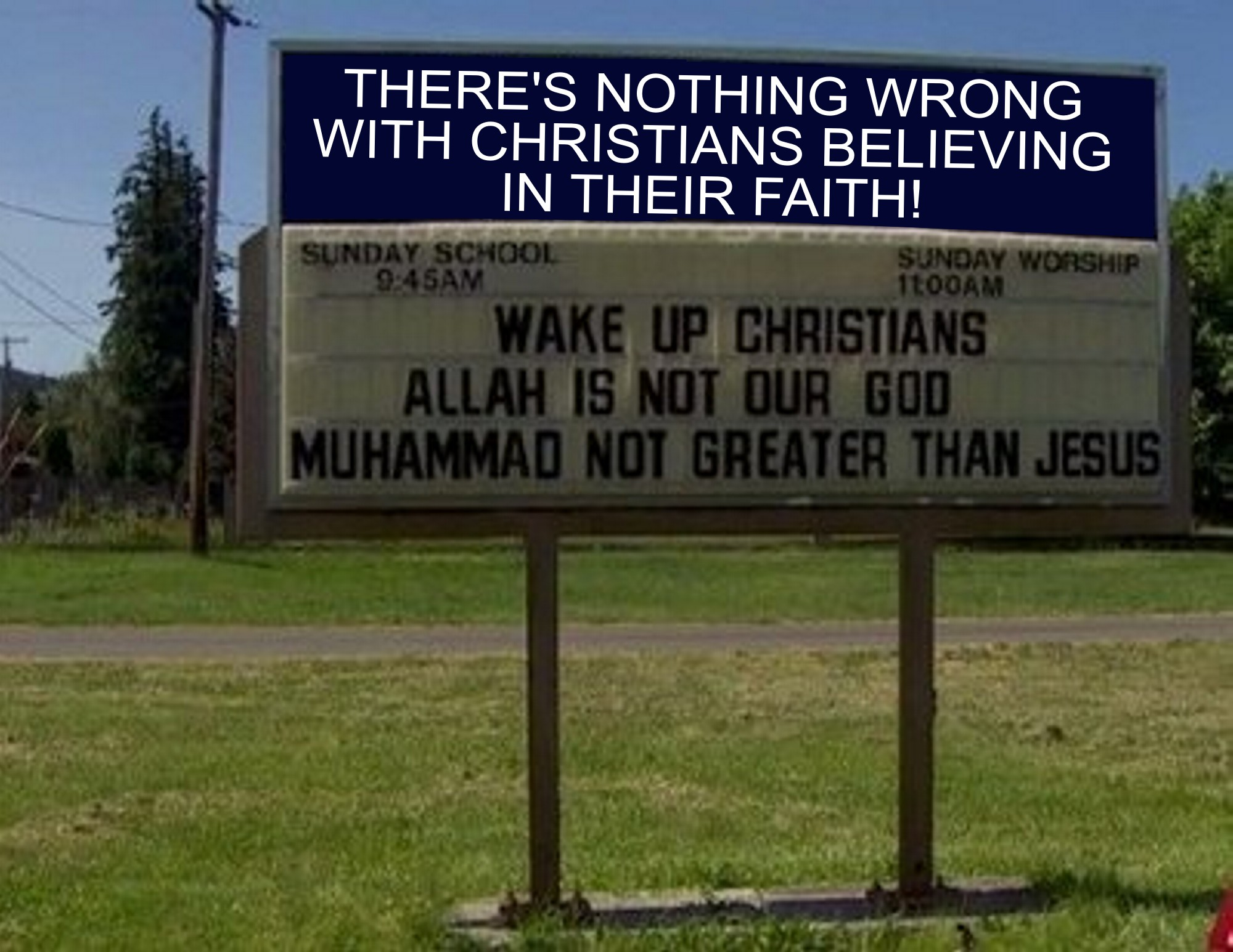 There's nothing wrong with Christians supporting their religion by emphasizing the differences with Islam