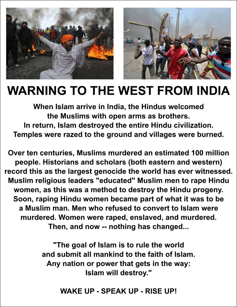 Warning to the West about Muslim 'wars'