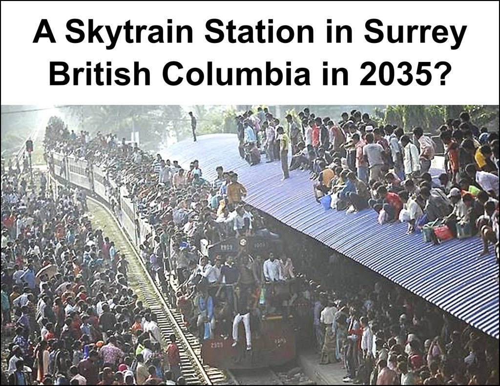 A sneak preview at what a Sky Train Station may look like in Surrey, British Columbia in 2035
