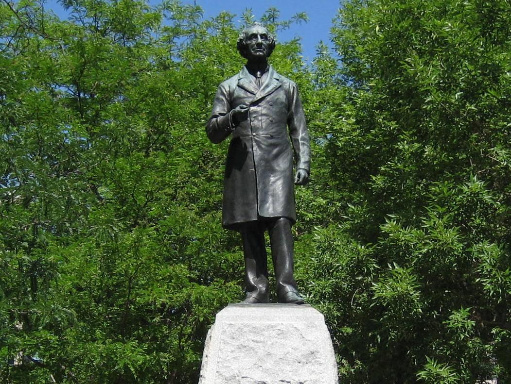 Close up of Canada's Oldest John A. Macdonald Statue