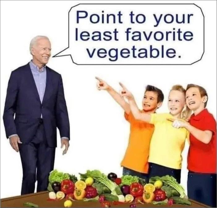 Biden Least Favorite Vegetable