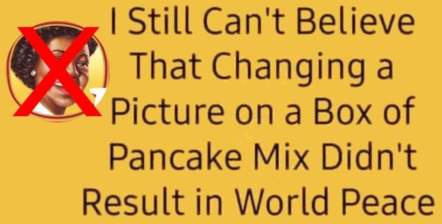 Picture on Pancake Box