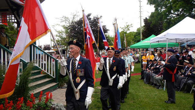 Patriotic veterans celebrate Canada Day in the Township of Scugog