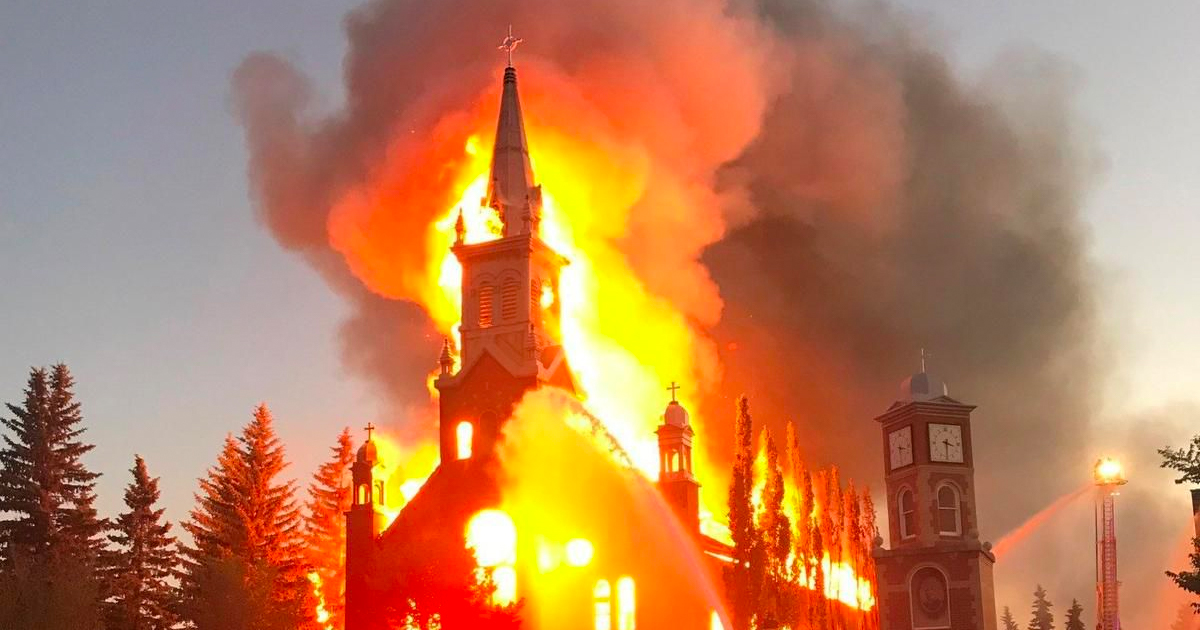 Police need to arrest Media for inciting Burning of Churches in Canada